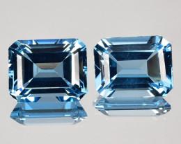 ~EMERALD CUT~ 7.32 Cts Natural London Blue Topaz 10x8mm Brazil