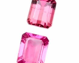 2.30 Ct Natural Pink Transparent Tourmaline Gemstones Parcels