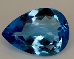 19.25Crt Natural Blue Topaz Natural Gemstones JI122