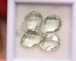 7.52ct Natural Prasiolite Pear Cut Lot A1212