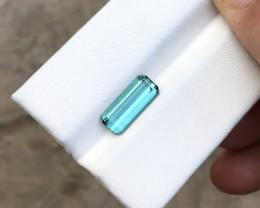 1.70  Ct Natural Blueish Transparent Tourmaline Gemstone