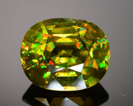 Sphene 8.99 ct AAA Rainbow Fire Untreated Madagascar Sku-68