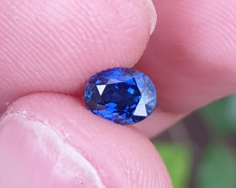 UNHEATED CERTIFIED 1.02 CTS TOP QUALITY VVS VS ROYAL BLUE SAPPHIRE MADAGASC