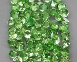 60Pcs/3.72 Ct Diamond Cut 2.2-2.4mm.Best Color  Natural Tsavorite Garnet