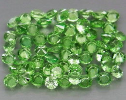 60Pcs/3.78 Ct Diamond Cut 2.2-2.4mm.Best Color Natural Tsavorite Garnet