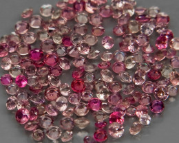150Pcs/4.57Ct.Round Diamond Cut 1.5 to 2mm.Fancy Color UNHEATED Sapphire So