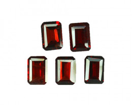 6.18 Cts Natural Pinkish Red Rhodolite Garnet 7x5mm Octagon 5Pcs Mozambiqu