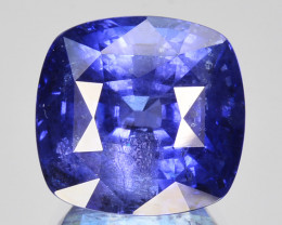 9.74Cts Natural Sapphire Beautiful Deep Blue Cushion Srilanka