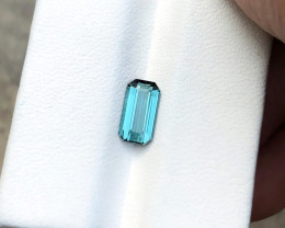 1.10 Ct Natural Blue Indicolite Transparent Tourmaline Ring Size Gemstone