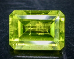 1.02 Crt Natural  Peridot Faceted Gemstone.( AB 76)
