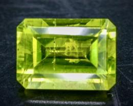 1.02 Crt Natural  Peridot Faceted Gemstone.( AB 76)