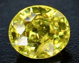 0.60 Crt Natural  Sphene Faceted Gemstone.( AB 76)