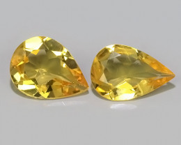 2.10 Cts - Sparkling Luster - Pear Gem - Natural Fine Yellow~Beryl!!