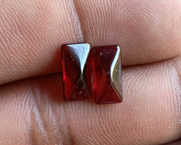 Natural Garnet Gemstone Cabochon Pair VA3138