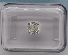 1.00ct  Cushion Natural Diamond IGI certified I SI2 + VIDEO