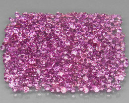 500Pcs/4.16Ct.Diamond Cut 1.1 mm.Ravishing! Pink Purple Rhodolite Garnet