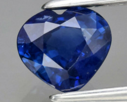0.86ct  VS Heart Natural Blue Sapphire  Heated Only