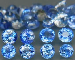 5.22 Ct/30Pcs/Round Diamond Cut 2.5 to 3.5mm. Cornflower Blue Sapphire