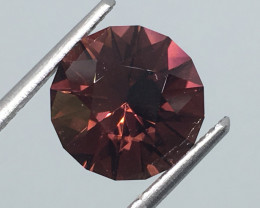 2.53 Carat VVS Tourmaline Master Cut Pinkish Purple Congo !