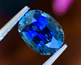 1.38 ct ViVid Blue Sapphire With Fine Cutting Gemstone