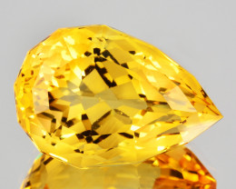 ~CUSTOM CUT~ 10.45 Cts Natural Golden Orange Citrine Fancy Pear Brazil