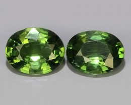3.45 CTS GENUINE TOP GREEN COLOR APATITE OVAL GEM BRAZIL
