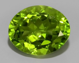 "3.80 CTS""MESMERISING NATURAL OVAL PERIDOT~EXCELLNT!!"