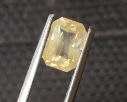 2.02 CTS Natural yellow sapphire |Loose Gemstone|New Certified| Sri Lanka
