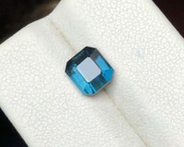 1.60 Ct Natural Dark Blue Transparent Tourmaline Gemstone