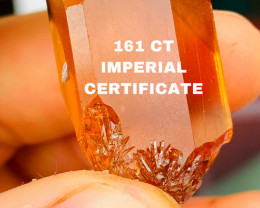161CT IMPERIAL COLOR TOPAS - BRASIL- I HAVE NOT CUT THE STONE BECAUSE IT IS