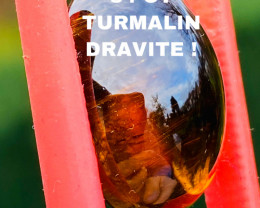 34CT TOURMALINE-DRAVITE !- I DISCONNECT MY COLLECTION.  AFTER 36 YEARS!