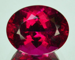 5.30Cts Natural  Red Rubellite Tourmaline Oval Cut Mozambique