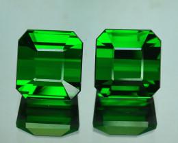 Matching! 11.05 Cts Natural Fine Green Tourmaline Octagon Cut Nigeria