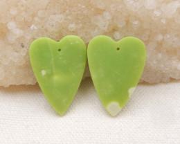 40.5ts Heart shape earrings Serpentine Jasper earrings ,earrings ,healing s