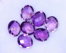 Checkerboard Cut 27.93cts Natural Purple Amethyst Lots / MA1141