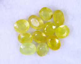 30.77cts Madagascar Yellow Sapphire Lots / MA1175