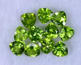 9.93cts Natural Apple Green Peridot Lots / MA1179
