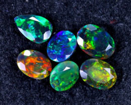 5.16cts Natural Ethiopian Smoked Faceted Welo Opal Lots / MA1180