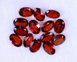 12.18cts Natural Orangish Red Spessartite Garnet Lots / MA1186