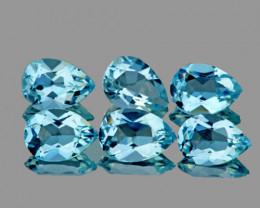 7x5 mm Pear 6 pcs 5.51cts Sky Blue Topaz [VVS]