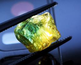 BICOLOR! NO HEAT! Yellow-Blue 2.55 CT Sapphire (Sri Lanka)