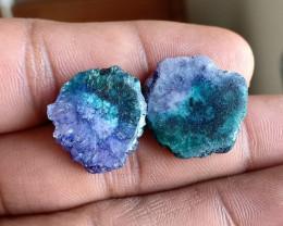 Natural Solar Quartz Slices Pair Genuine Gemstones VA3239