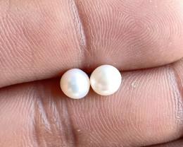 Natural Fresh Water Pearl Gemstone Pair VA3279