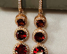 41CT EARRINGS- BEST GARNET I DISCONNECT MY COLLECTION.  AFTER 36 YEARS!