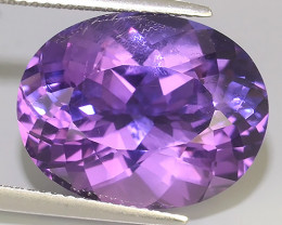 15.10 CTS SUPERIOR! TOP PURPLE-VIOLET-AMETHIYST OVAL GENUINE!!