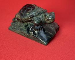 587.0ct African Kambaba Jasper Turtle Carving