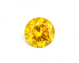 ~SPARKLING~ 0.10 Cts Natural Diamond Golden Yellow 2.90mm Round Africa