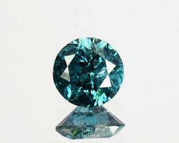 0.24 Cts Natural Diamond Greenish Blue Round 3.90 mm