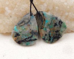 50cts High Quality Earrings ,Gemstone Earrings ,Natural Chrysocolla Earring
