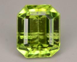 Mint Green Emerald Cut 3.10 ct Peridot Jewelry Piece